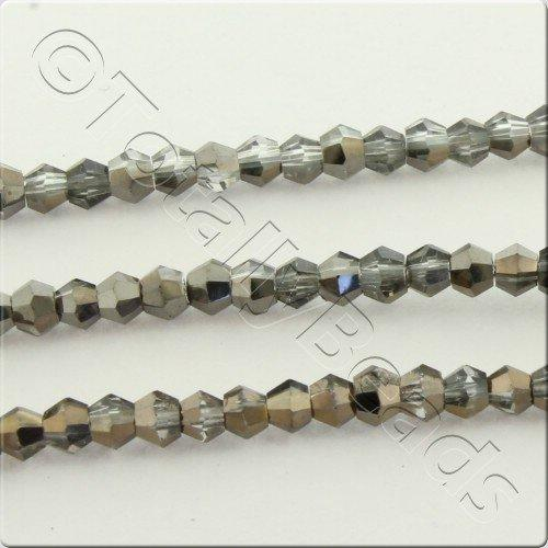 Crystal Bicone 2.5mm - Black Diamond