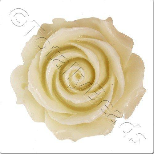 Acrylic Rose 35mm Pendant - Cream