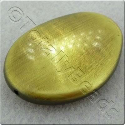 Acrylic Bronze Bead - Flat Nugget 40x29mm