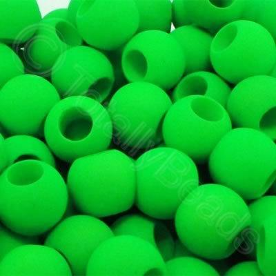 Acrylic Beads 10x8mm - Neon Green