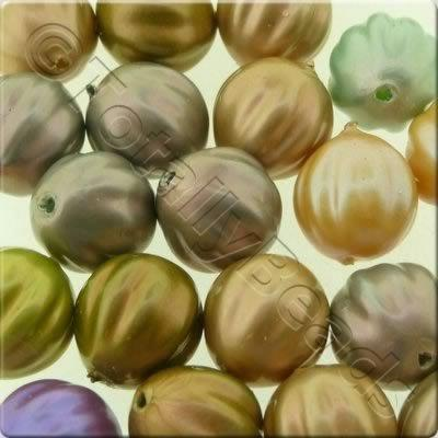Acrylic Imitation Pearl - 10mm Pumpkin - Mix 1