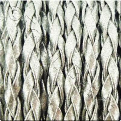 Braided Poly Cord Silver - 3mm - 5m Spool