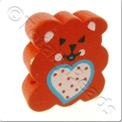 Wooden Childrens Bead - Teddy Bear