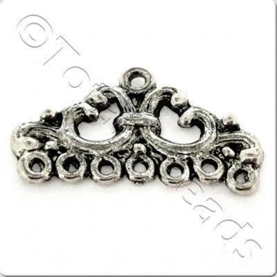 Tibetan Silver Connector - Triangle 1-7