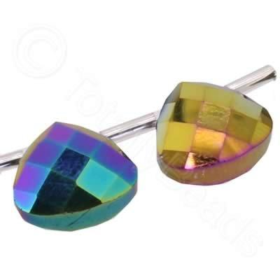 Crystal Flat Drop 13mm - Rainbow Plate