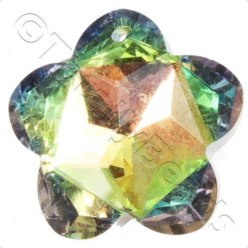 Crystal Pendant - Flower 27mm - Rainbow B