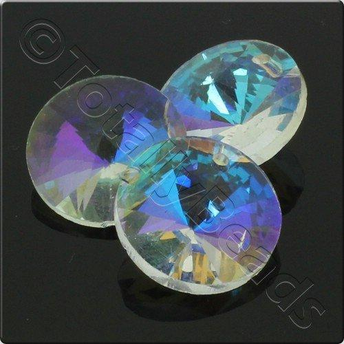 Crystal Rivoli - 16mm Crystal AB with Hole
