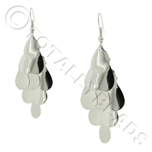 Cascade Earring Kit - Silver Teardrops