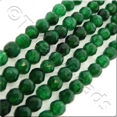 Dark Green Dyed Stone 3mm Facet Round
