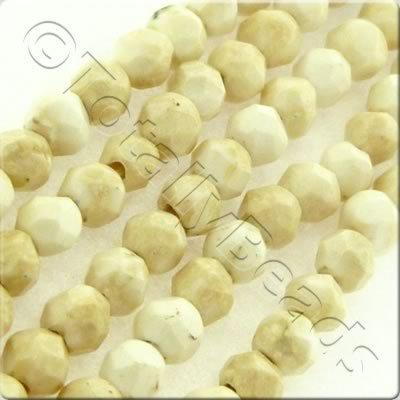 Howlite 3mm Facet Round