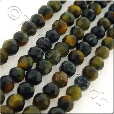 Blue Tiger Eye 3mm Facet Round