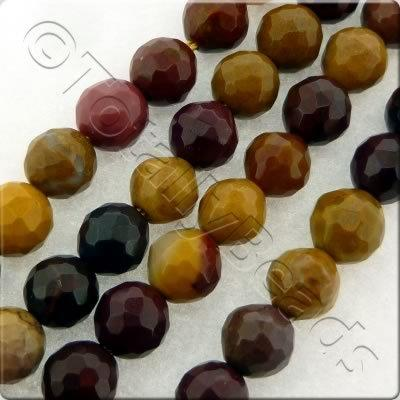 Mookaite Facet Round Beads - 6mm