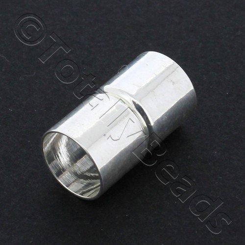Magnetic Tube Clasp 22x11mm - Silver - 1pcs