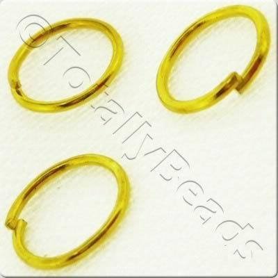 Jump Rings 8mm - Gold Plated