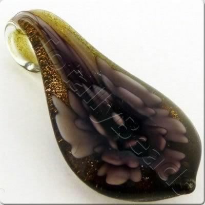 Lampwork Pendant - Drop 50mm - LPP25