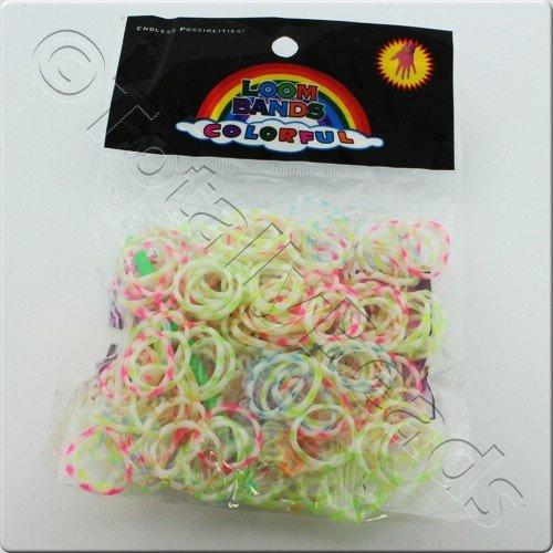 Loom Bands 300pcs - Pastel Multicolour Mixed
