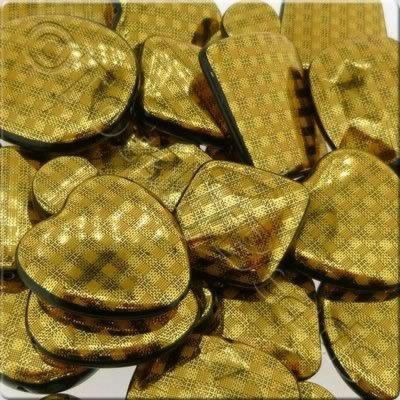 Acrylic Chequered Gold Beads Mix
