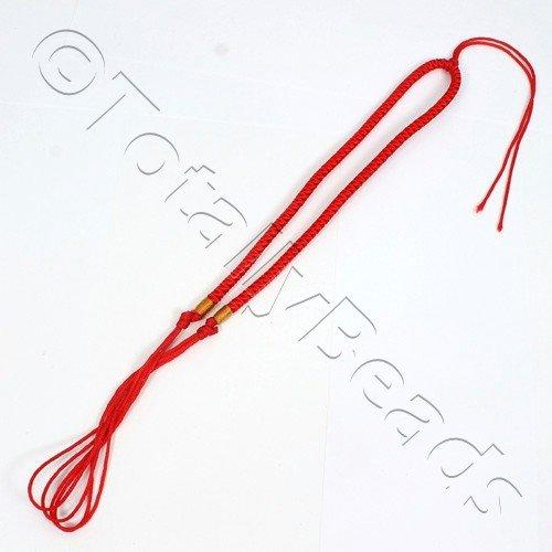 Nylon Necklace Braid - Red
