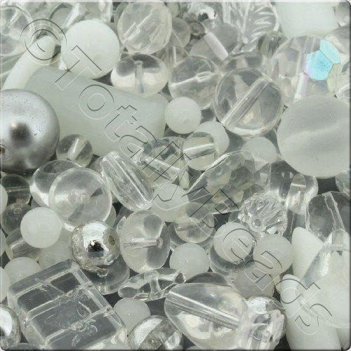 250g Glass Bead Mix - Clear White