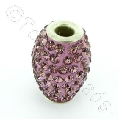 Shamballa Rice Bead - 20x14mm - Purple
