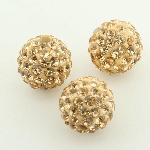 Shamballa Bead 10mm Round - Peach - 2mm