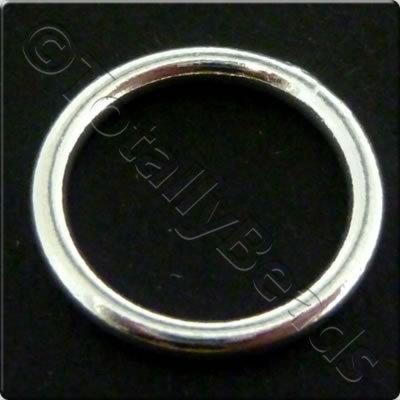 Sterling Silver - Solid Ring - 14mm
