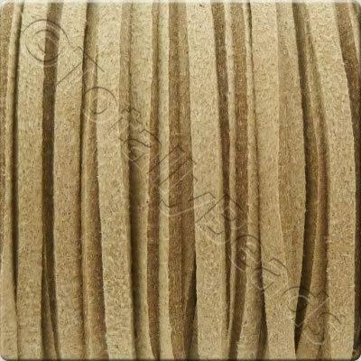 Suede Cord Natural - 3mm - 5m Spool