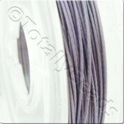 Tigertail Wire 0.45mm - Metallic Lilac - 10m
