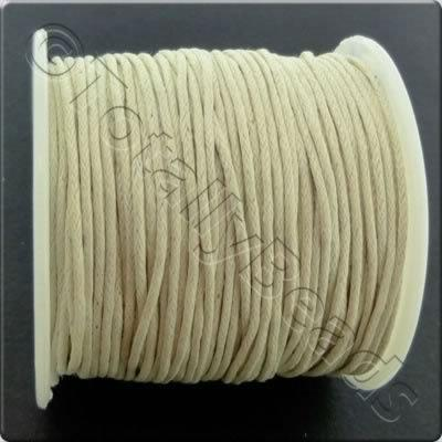 Wax Cotton Cord 1mm - Ivory
