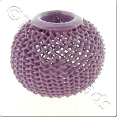 Wire Mesh Large Hole Bead - Lilac