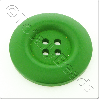 Wooden Button 30mm - Green