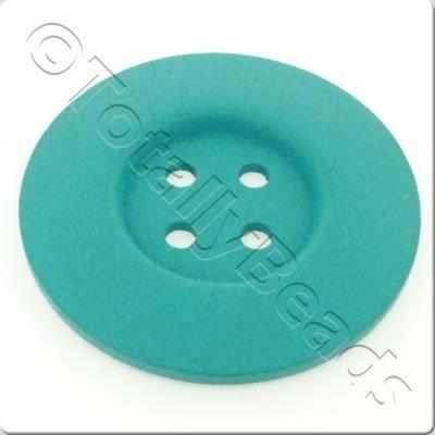 Wooden Button 60mm - Turquoise