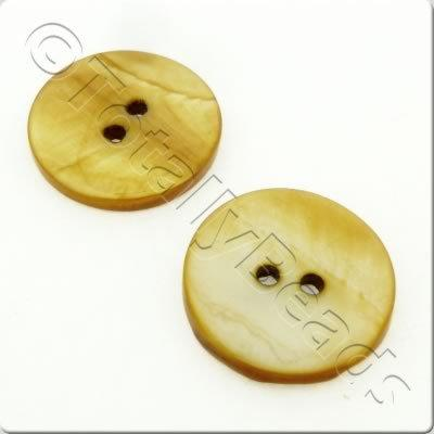 Shell Button 20mm - Golden Brown