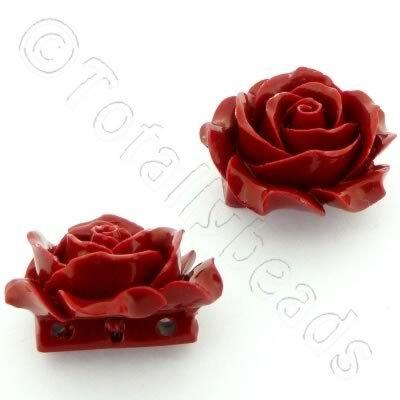 Acrylic Rose 35mm 3 Rows - Red