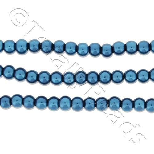 Glass Pearl Round Beads 3mm - Montana