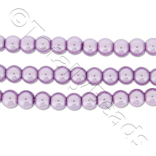 Glass Pearl Round Beads 4mm - Lavender