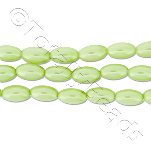 Glass Pearl Rice - Lime Green