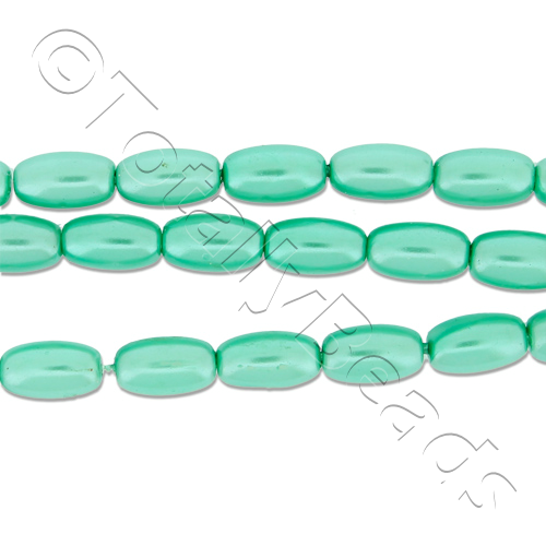Glass Pearl Rice - Sea Foam Green