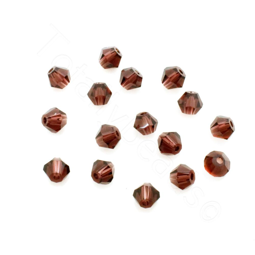Burgundy 4mm 100pcs