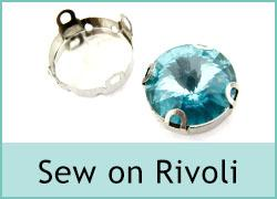 Crystal Rivoli Sew On