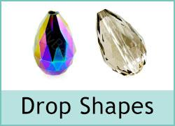 Crystal Drop Shape Bead