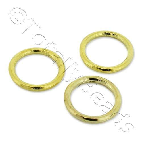 Closed Ring - 10mm - Gold Plated