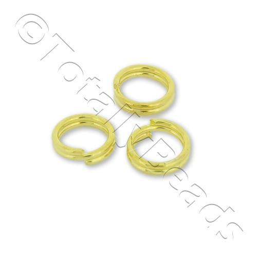 Split Rings 6mm - Gold Plated