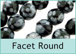Gemstone Facet Round Beads