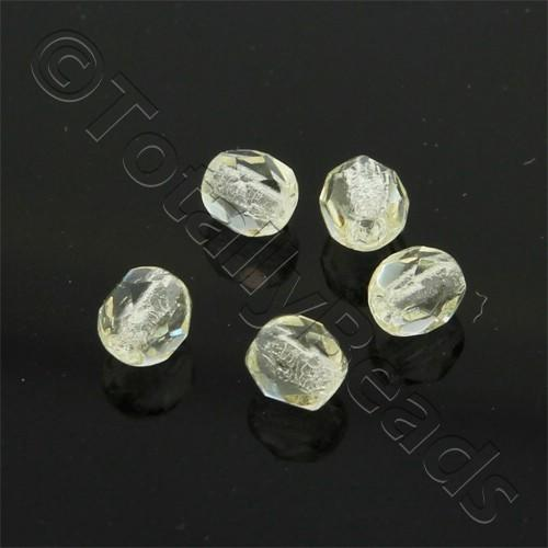 Czech Fire Polished 4mm Faceted - Citrine Yellow - 100pcs