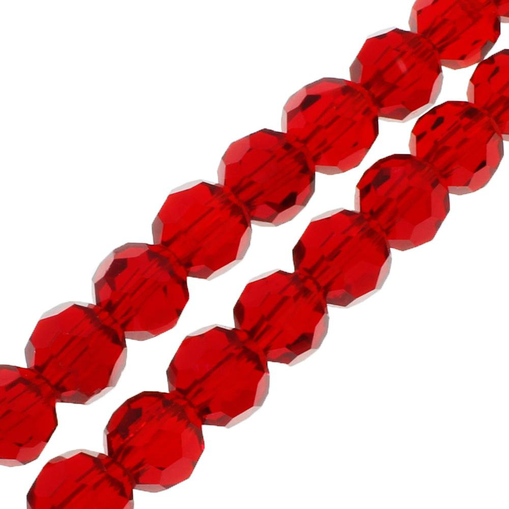 Crystal Round 6mm - Cherry Red 90pcs