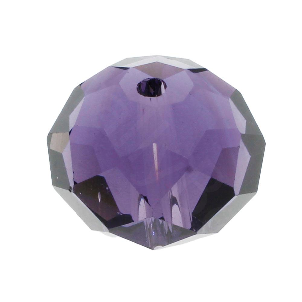 Crystal Rondelle 14x18mm - Purple 1pc