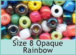 Size 8 Opaque Rainbow