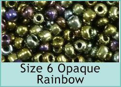 Size 6 Opaque Rainbow