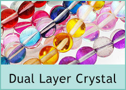 Dual Layer Crystal Beads